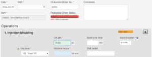Production Reporting - Progress Feedback